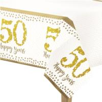 50th Gold Wedding Anniversary Table Cover