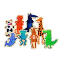 Wooden Magnetic Crazy Animals