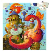 Vaillant & The Dragon Silhouette Puzzle - 54pcs