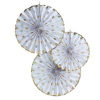 Gold Foiled Dotty Fan Decorations
