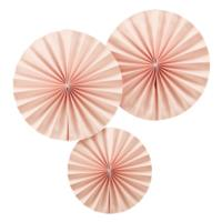 Pastel Pink Fan Decorations