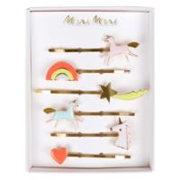 Unicorn Enamel Hairclips