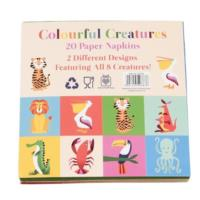 Colourful Creatures Napkin