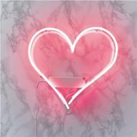 Pink Heart Shaped Neon Light