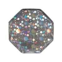 Silver Holographic Bubble Side Plates